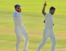 Late wickets leave India on top