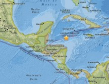 Caribbean Sea earthquake shakes Central America